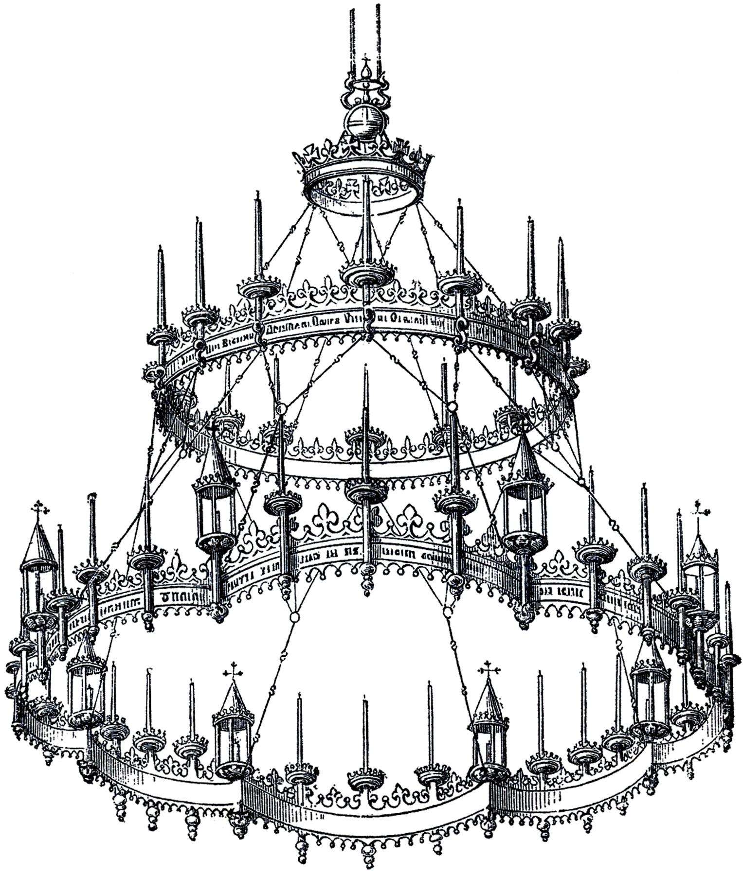1527x1800 Vintage Gothic Chandelier!