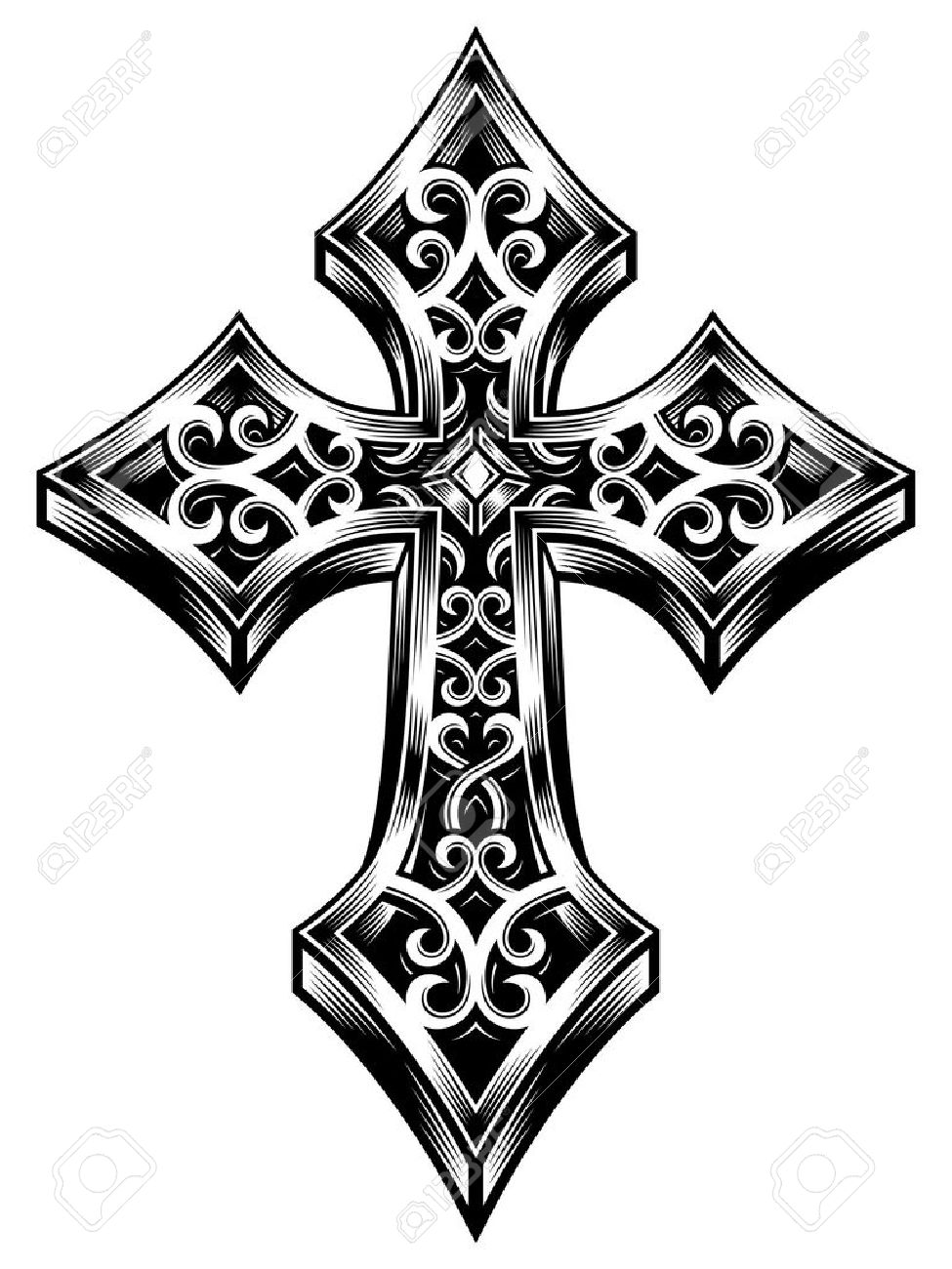 975x1300 Ornate Celtic Cross Vector Royalty Free Cliparts, Vectors,