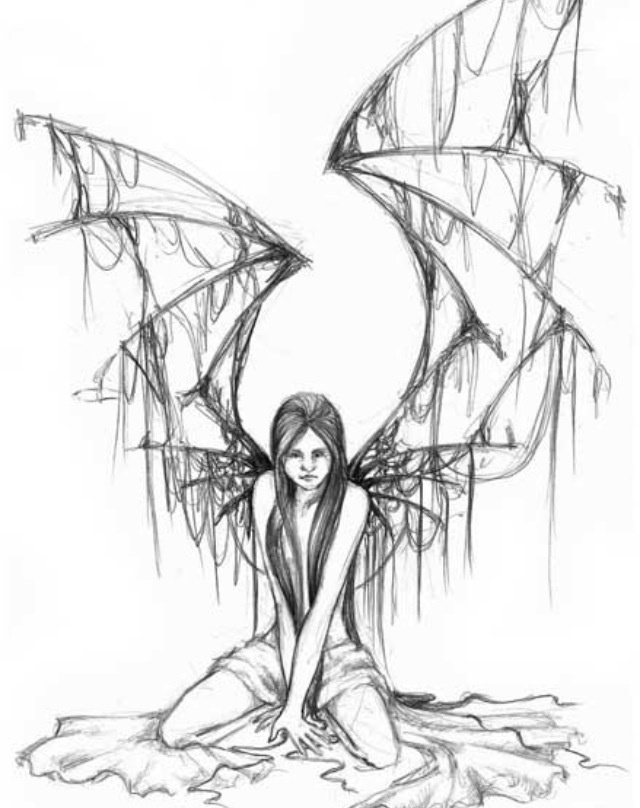 Gothic Fairy Drawing