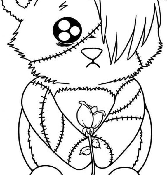572x600 Emo Coloring Pages To Print Gothic Fairy Coloring Pages Emo