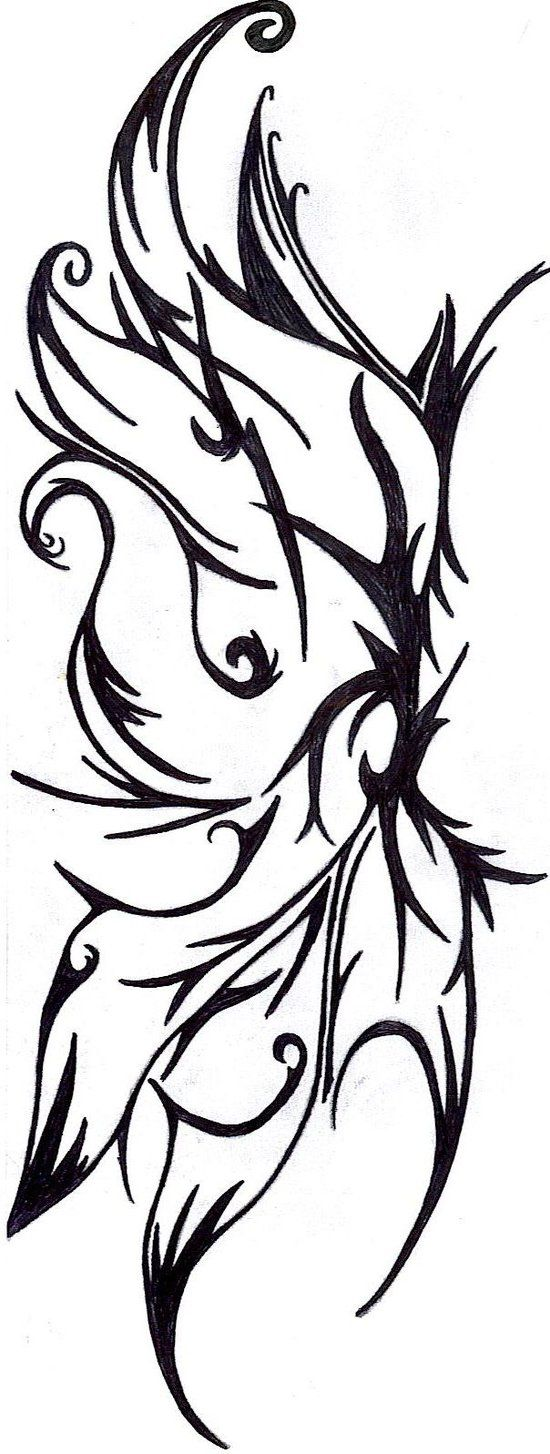 550x1454 Fairy Wings Drawings