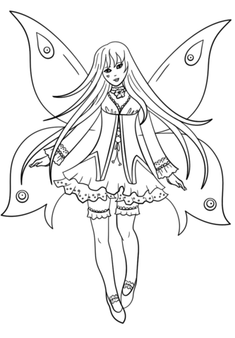 333x480 Goth Fairy Coloring Page Free Printable Coloring Pages