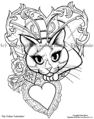 366x463 Gothic Fairy Coloring Page Free Download