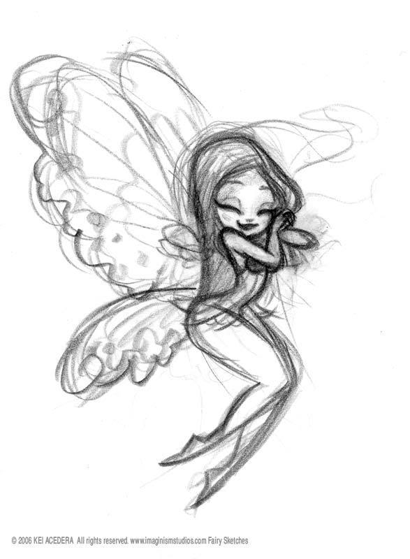 587x800 Darling Fairy Sketch My Sister Would Love This Tattoos