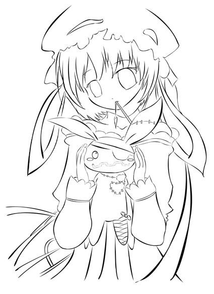 425x585 Gothic Anime Girl