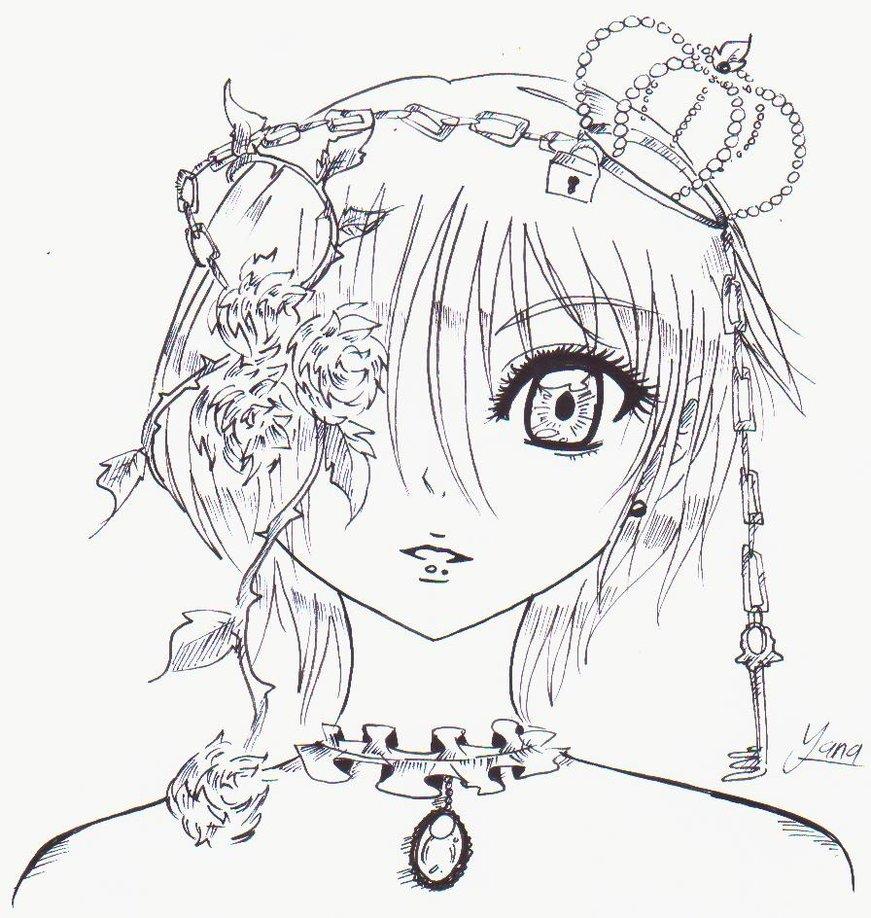 871x918 My Drawing Gothic Girl By Yuukiyana