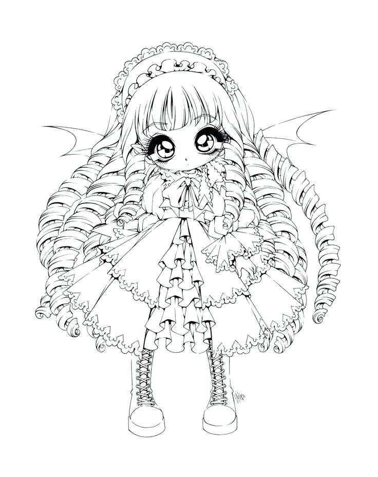736x929 Simple Gothic Coloring Pages Print Adult Girl Vampire L