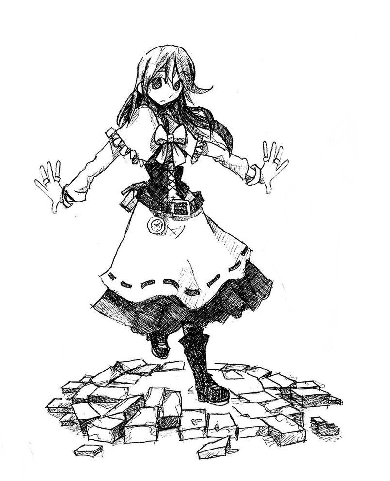 805x993 Anime Drawings Gothic Girl Victorian Dress Images
