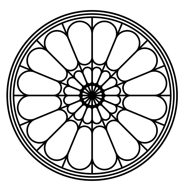 2877x2965 Simple Rose Window Pattern