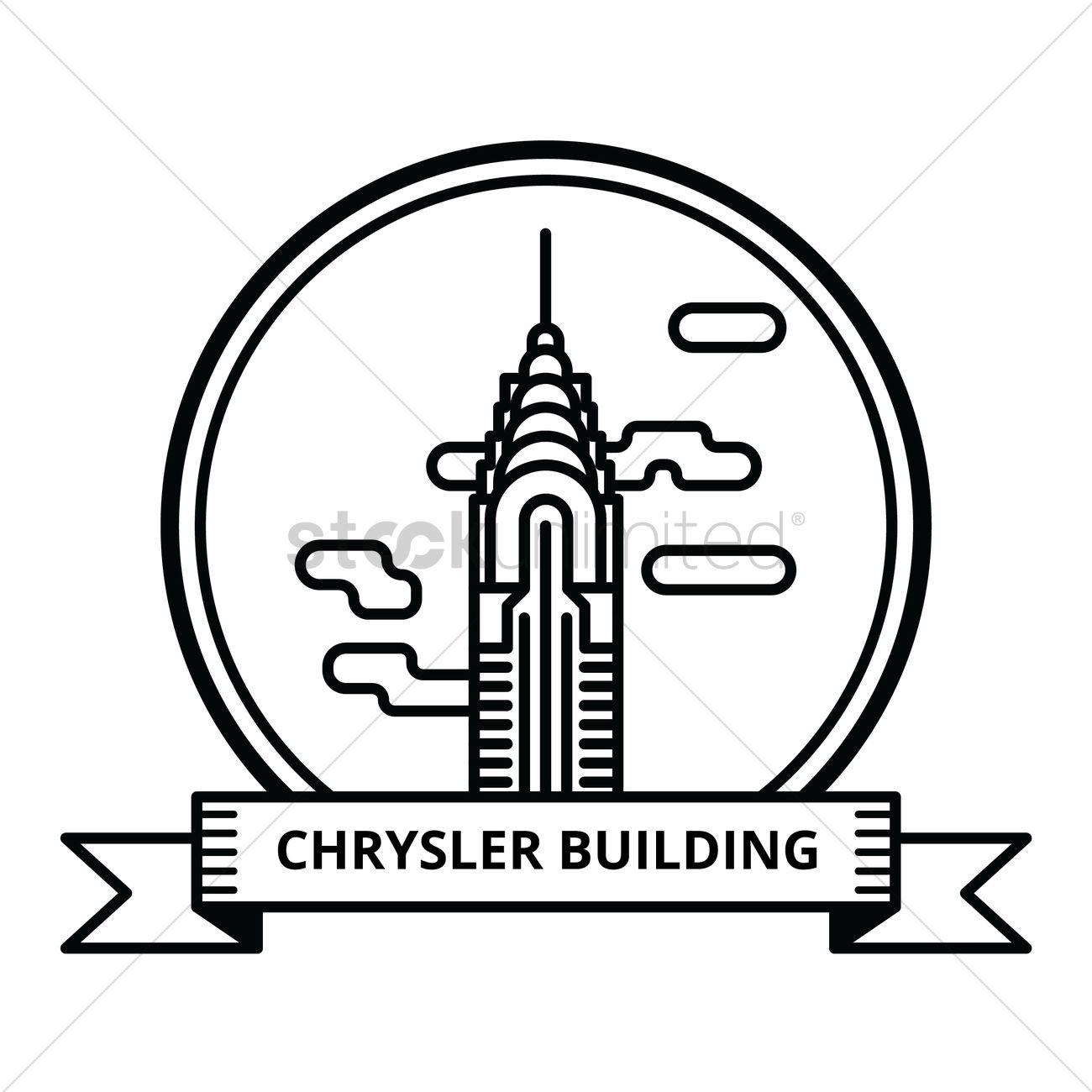 1300x1300 Chrysler Building Vector Image