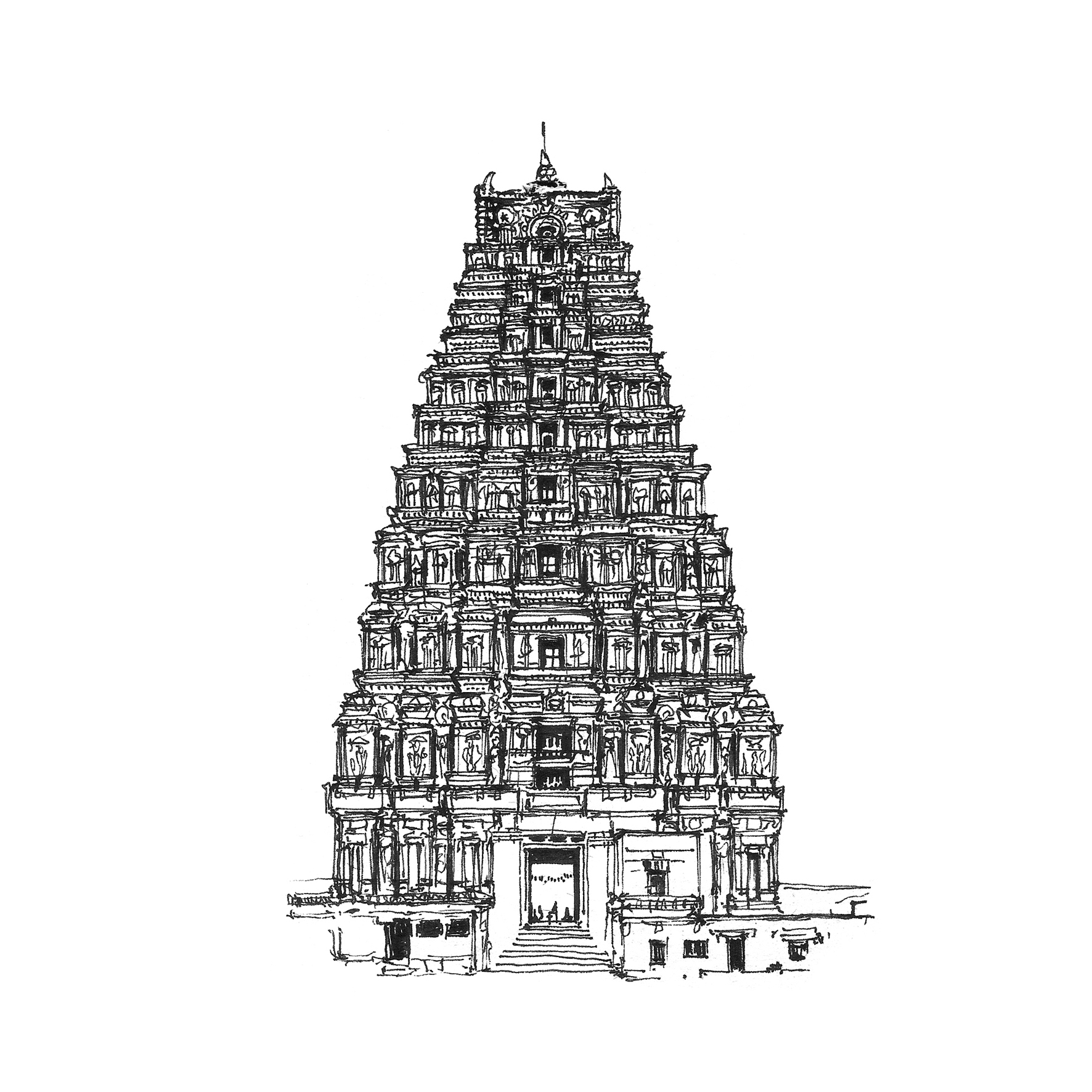 1772x1772 Indian Temple Architecture Drawings Hindu Temple, India, Architect
