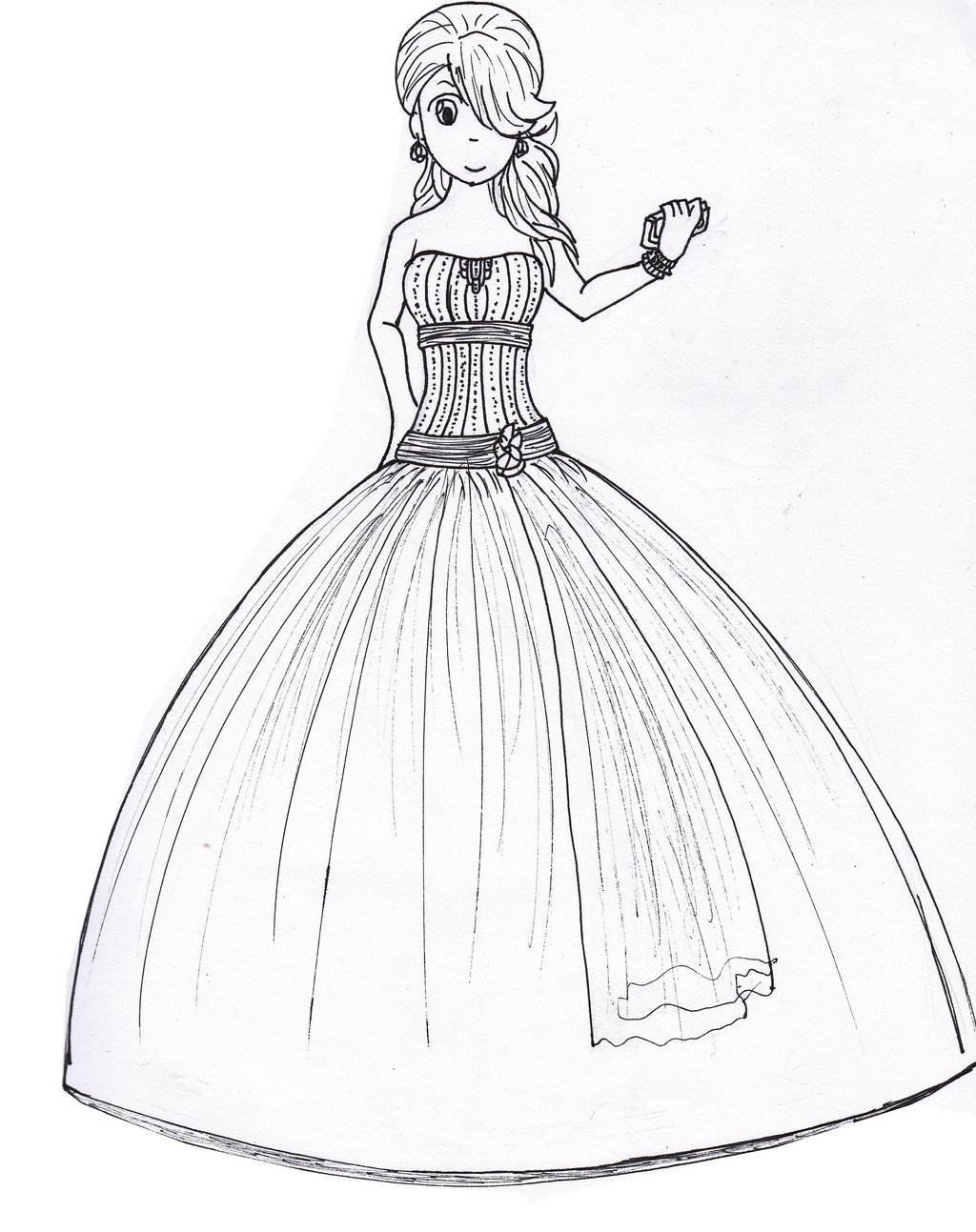 1024x1293 Drawing Of Prom Dresses Drawing Formal Dresses