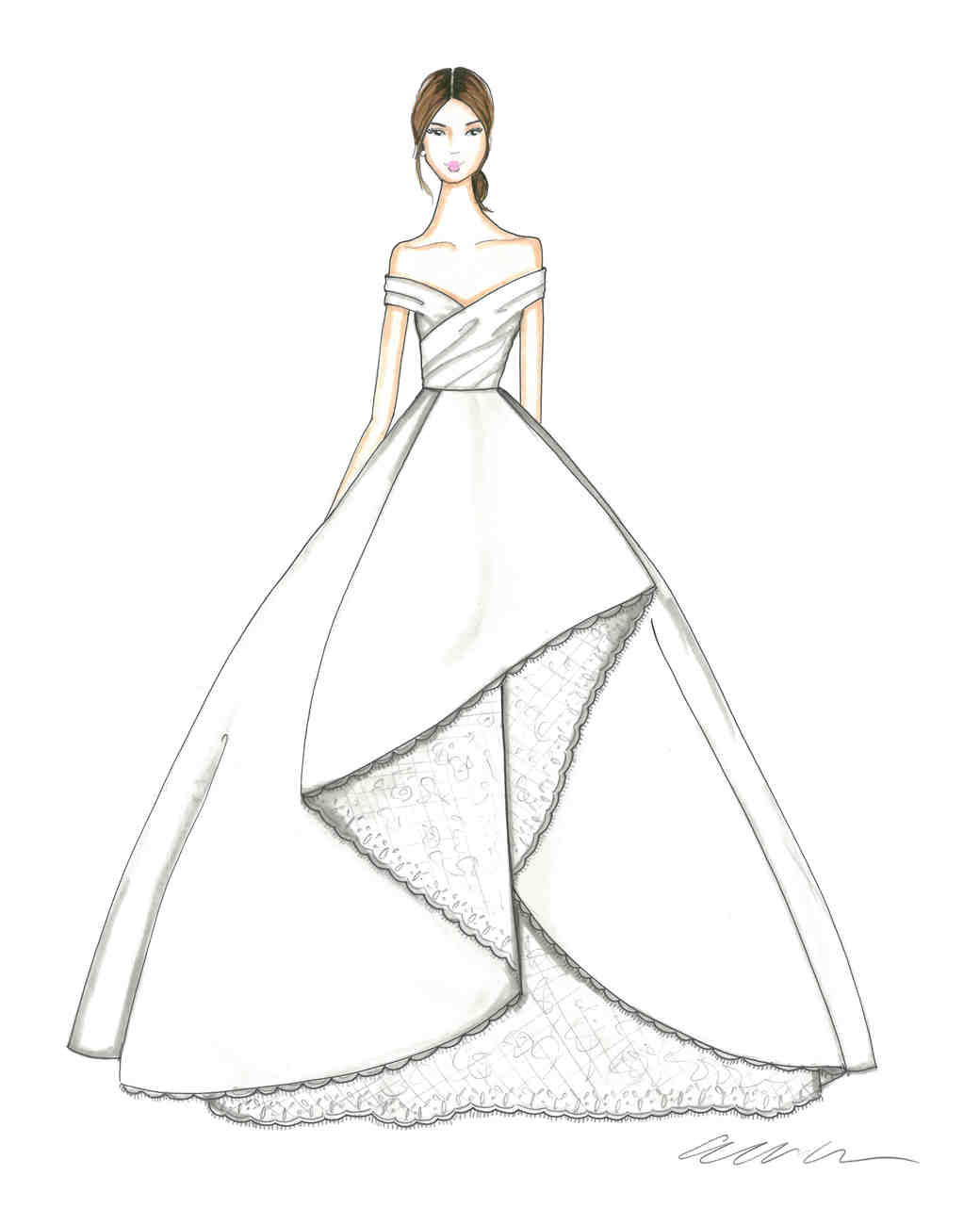 Gown Drawing at GetDrawings.com | Free for personal use Gown Drawing ...