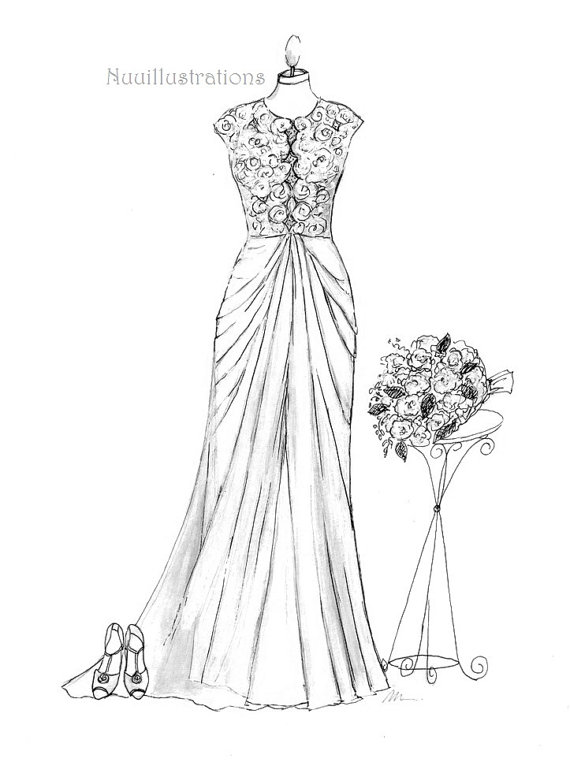 Gown Drawing At Getdrawings Free For Personal Use Gown Drawing