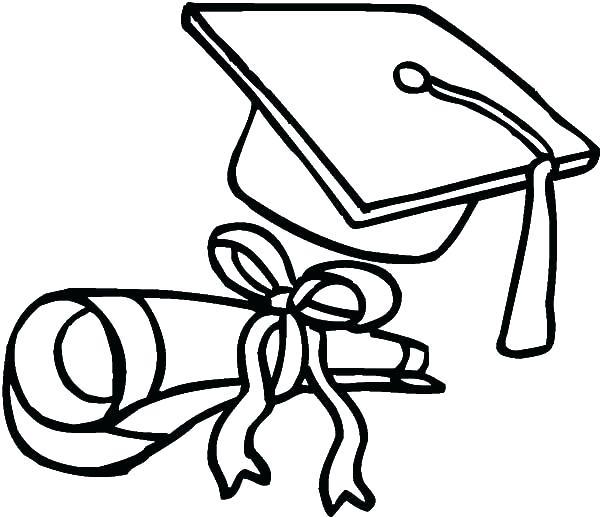 600x517 Graduation Coloring Pages Club On Graduation Cap Coloring Page