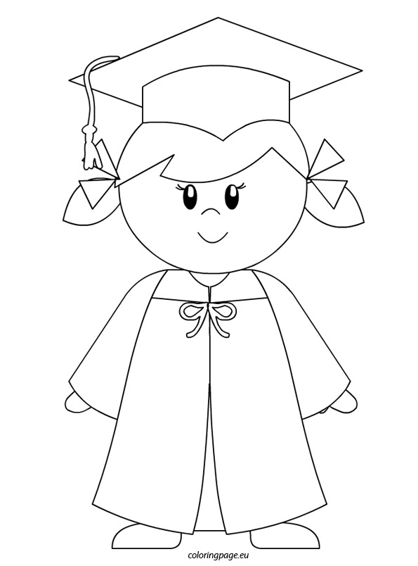 595x804 Kindergarten Graduate Girl Coloring Page To Color!