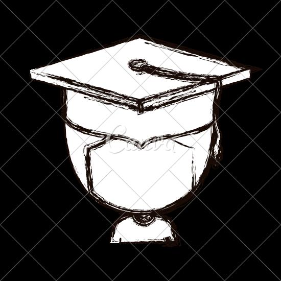550x550 Boy With Graduation Cap Sketch