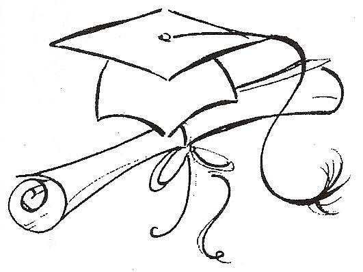 531x398 How To Draw A Graduation Cap