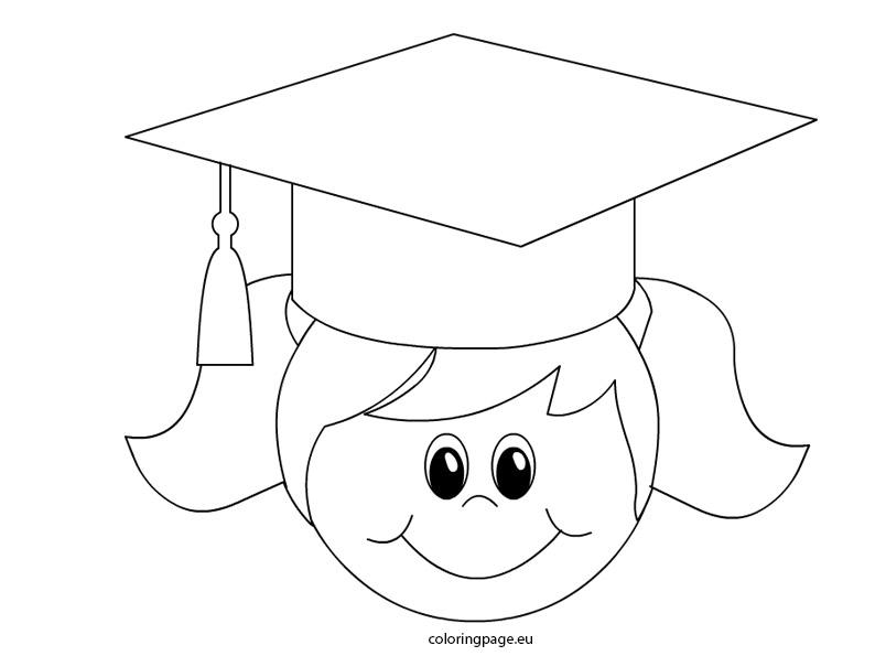 804x595 Graduation Cap Coloring Page Image Clipart Images