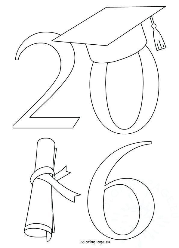 595x822 Graduation Coloring Pages Class Of Graduation Graduation Hat