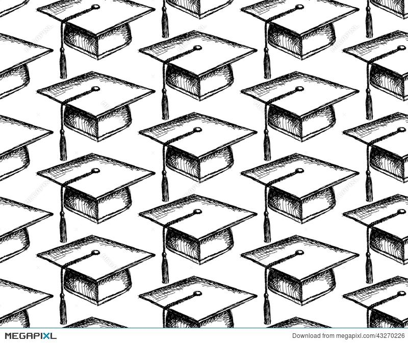 800x673 Sketch Graduation Cap Illustration 43270226