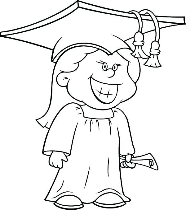 600x675 Graduation Cap Coloring Page