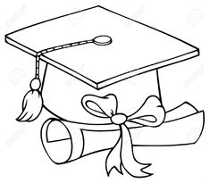 235x205 Sketch Of Graduation Cap