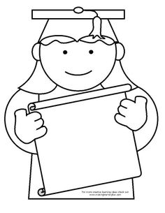236x305 Coloring Page Template For A Graduation Theme From Making Learning