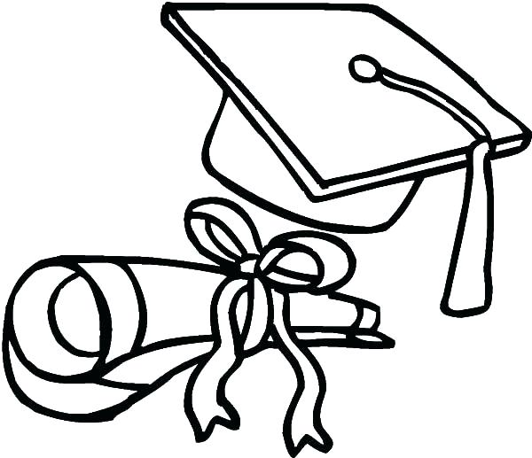 600x517 Graduation Coloring Pages Picture Graduation Hat Coloring Pages