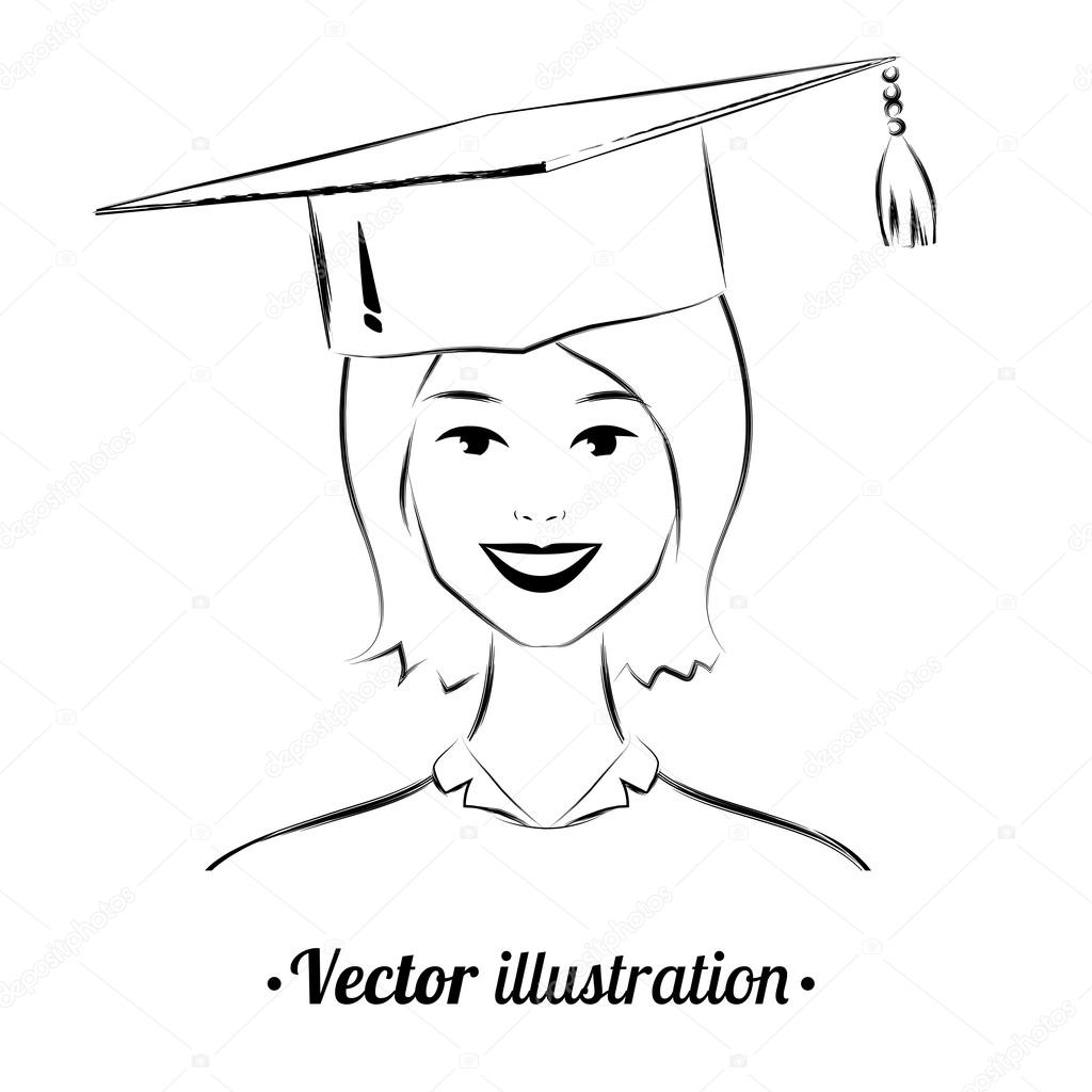 Graduation Drawing at GetDrawings.com | Free for personal use ...