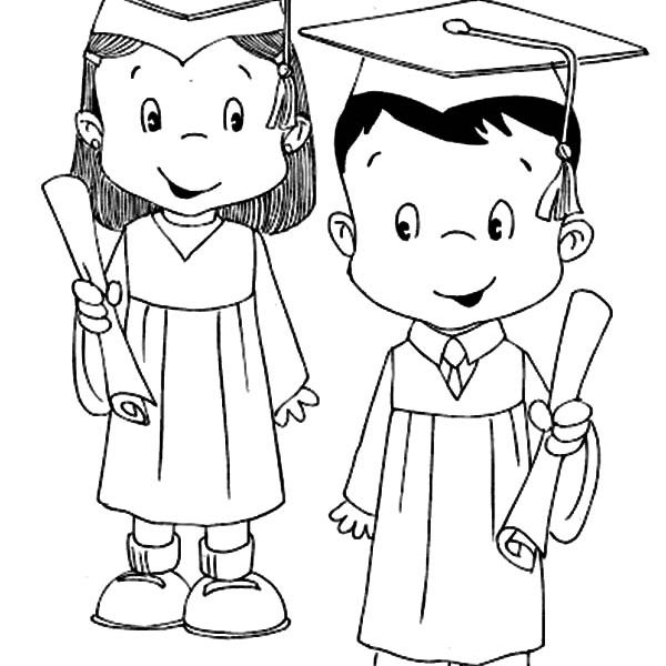 600x600 Student Coloring Pages Model Student Graduation Coloring Pages