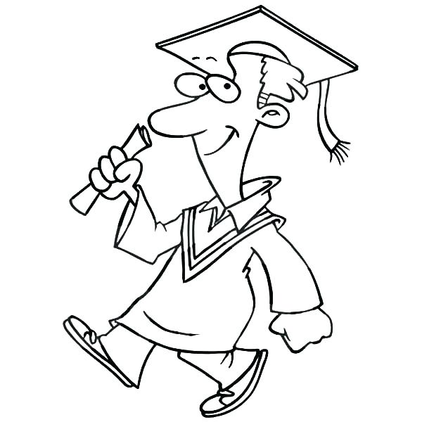 600x627 Classy Graduation Coloring Pages Fee