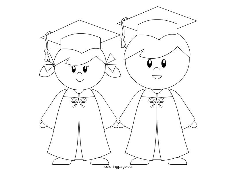 804x595 Graduation Cap And Gown Coloring Pages Graduation Hat