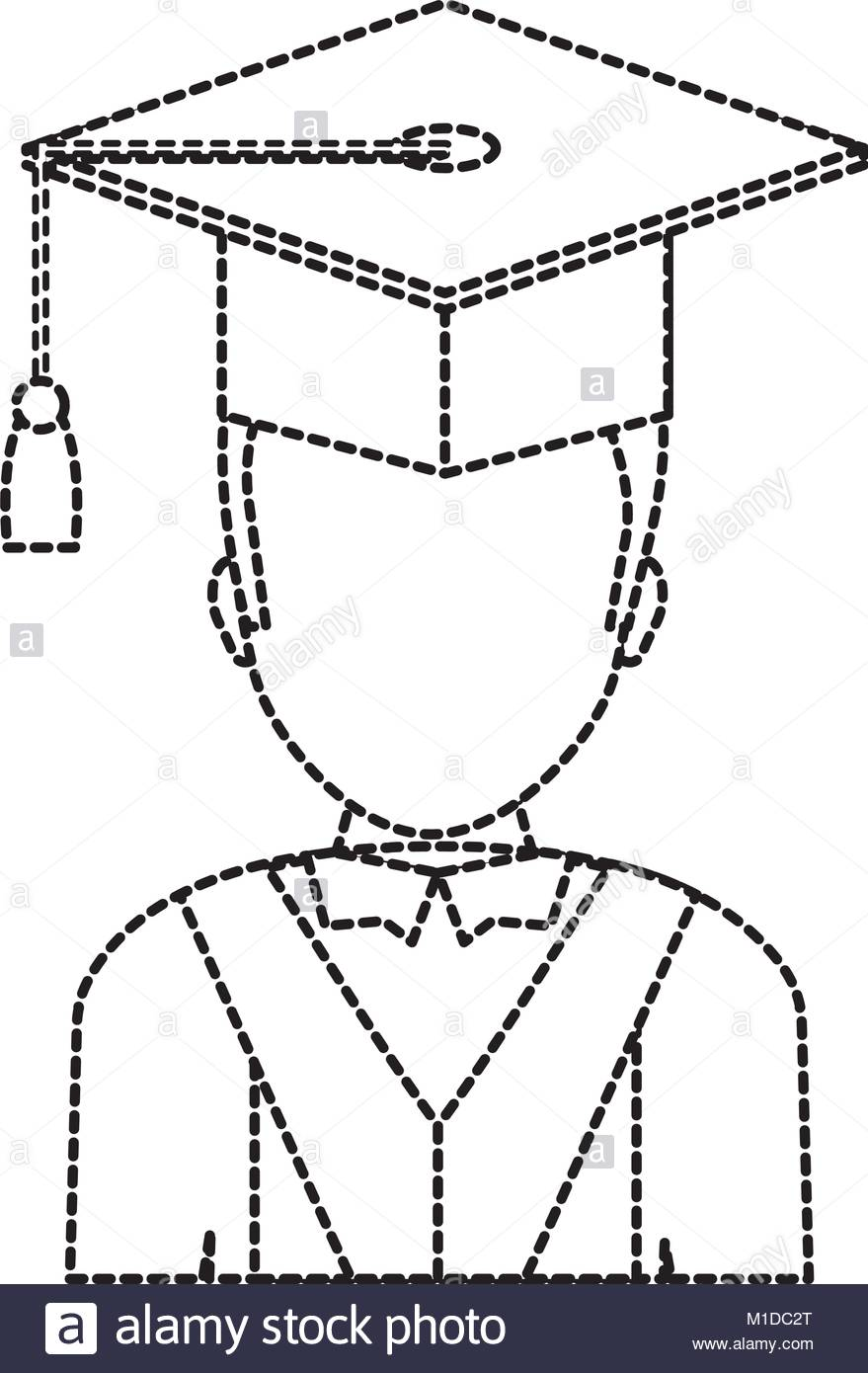 Graduation Gown Drawing at GetDrawings.com | Free for personal use ...