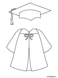 222x300 Graduation Cap And Gown Template Printables