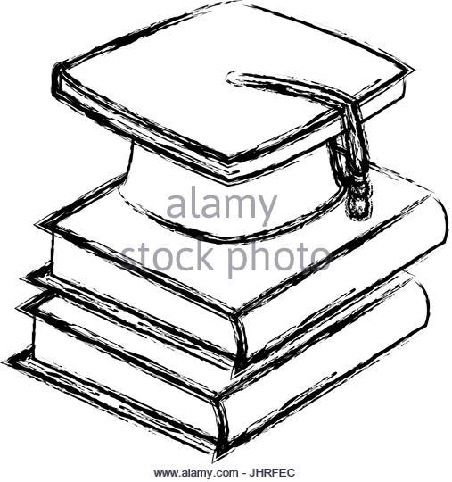 507x540 Graduation Cap Book Icon School Stock Photos Amp Graduation Cap Book
