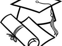 200x150 Graduation Cap Coloring Page Luxury Graduation Hat Images Coloring