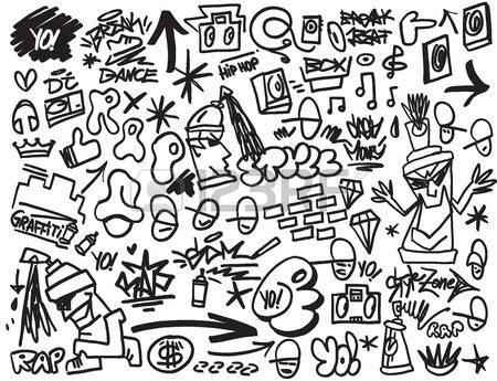 450x345 11,696 Graffiti Wall Stock Vector Illustration And Royalty Free
