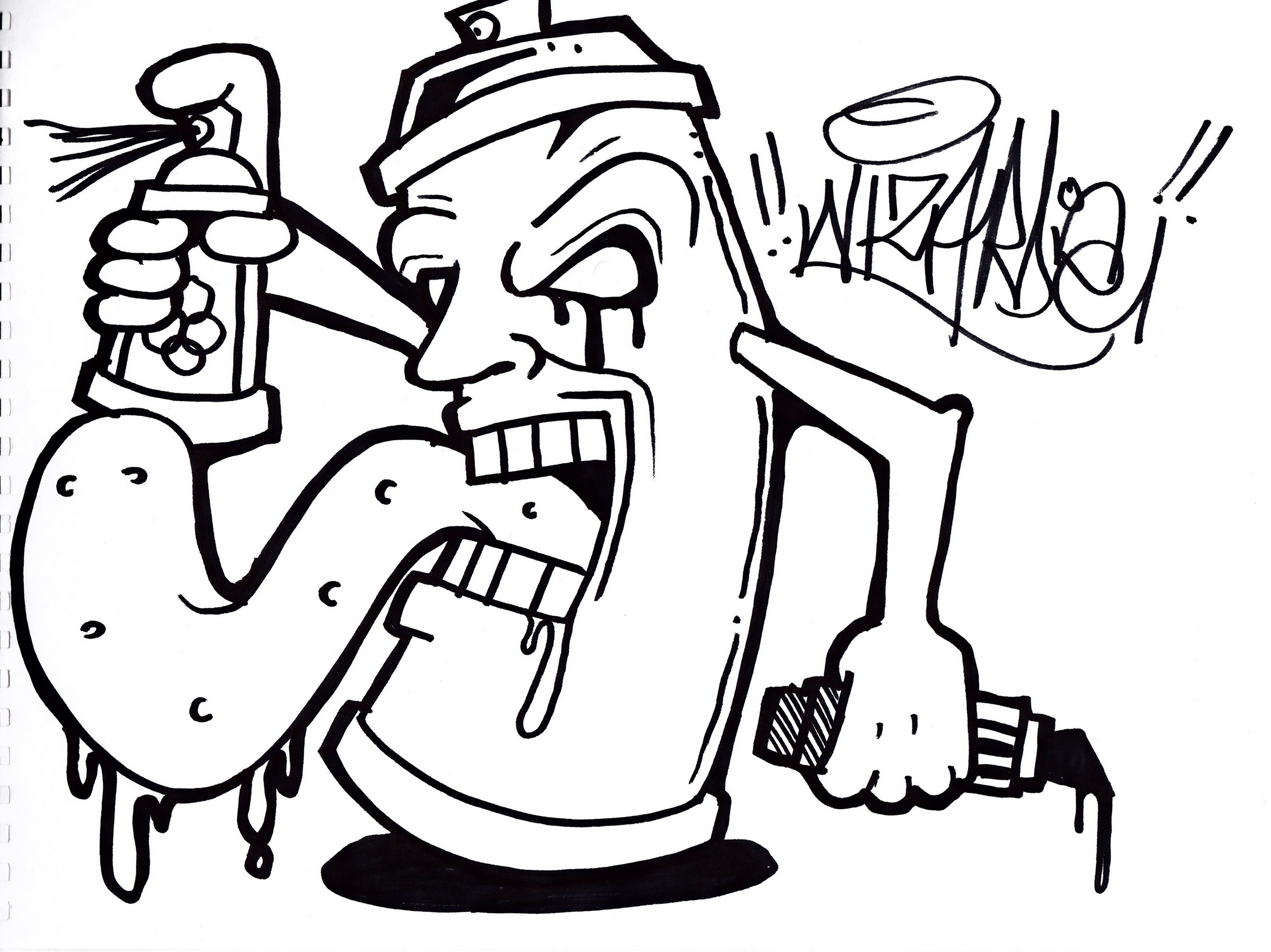 3000x2248 Cool Graffiti Pictures To Draw Easy Cool Graffiti Drawings Learn