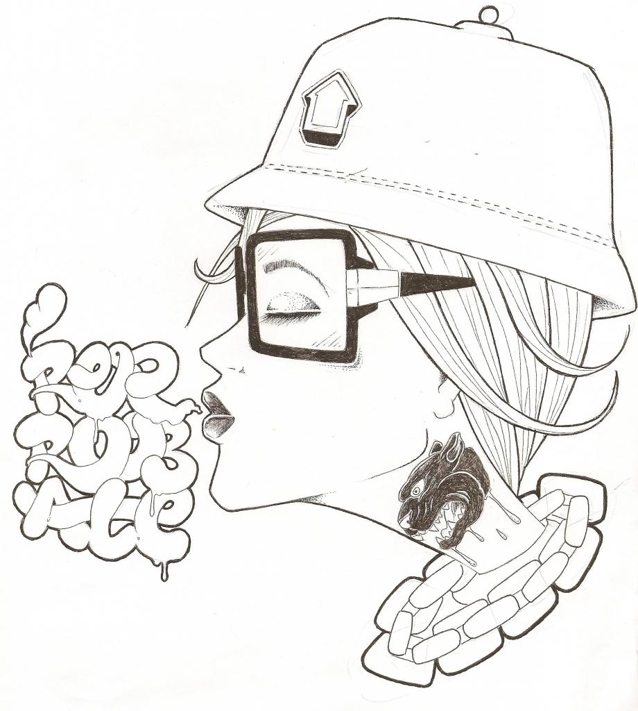 920x1024 Graffiti Character Sketch Girl Graffiti Girl Characters Sketches