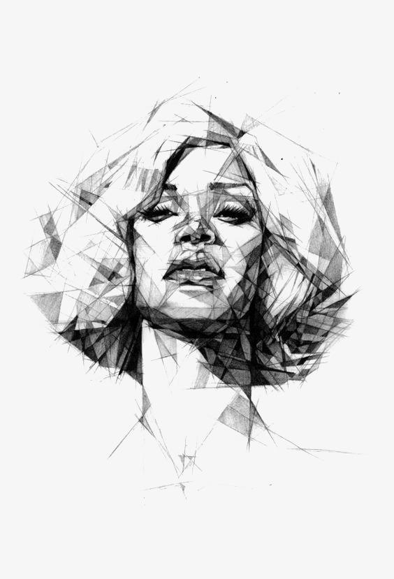 564x829 Graffiti Girl Line, Illustration, Cartoon, Hand Painted Png Image
