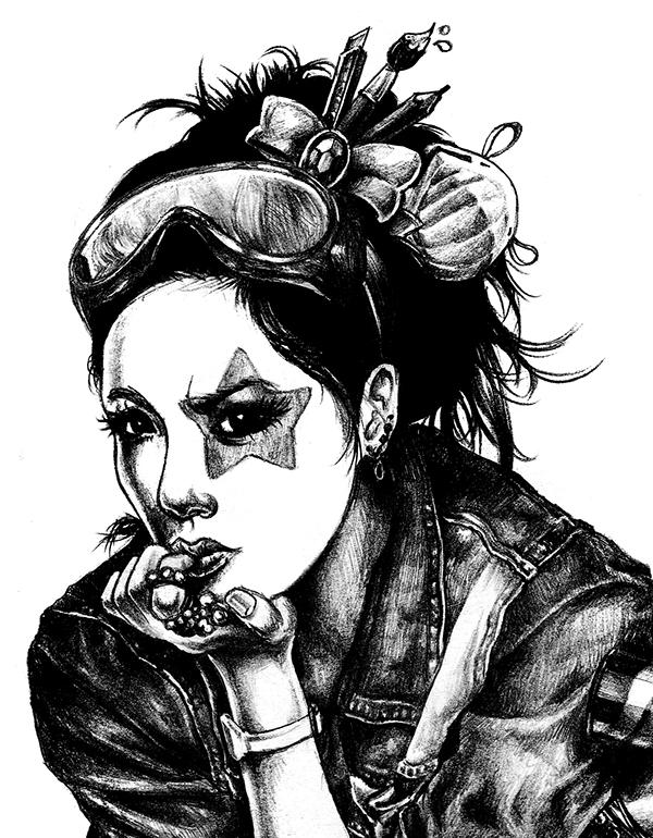 600x770 Graffiti Girl On Behance