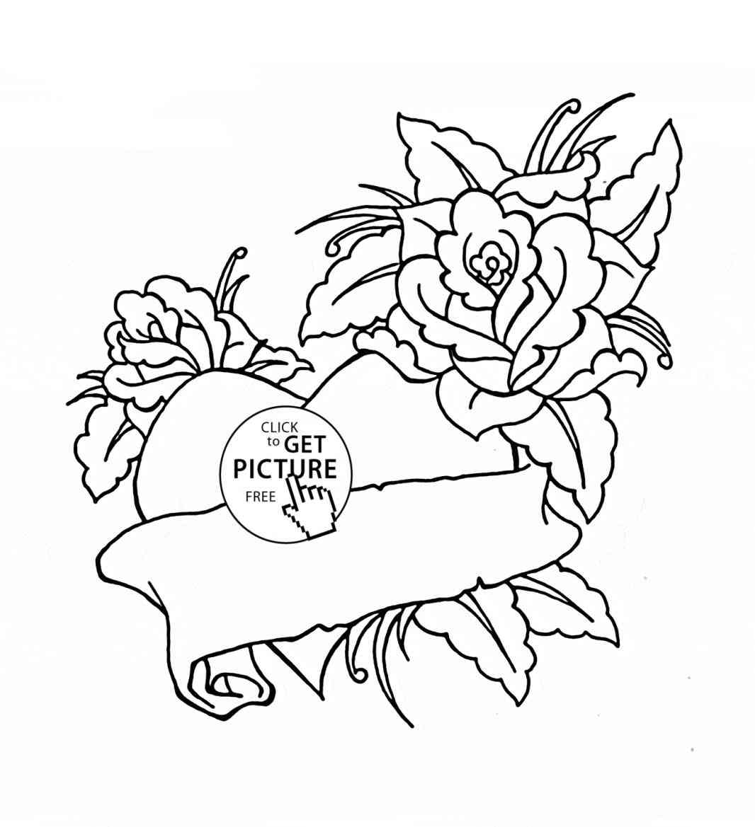 1066x1169 Heart Roses Pencil Drawing Stock Illustration Graffiti With Rose