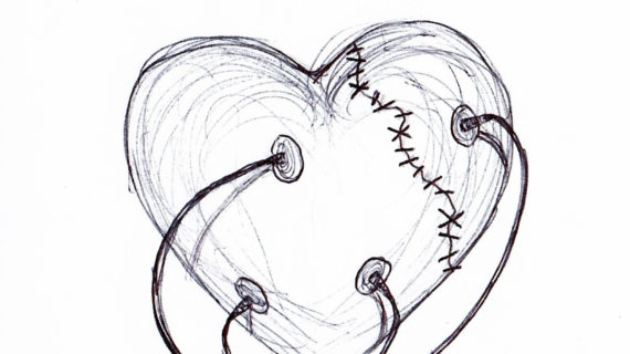 570x320 Cool Sketches Of Broken Hearts Broken Heart Drawing