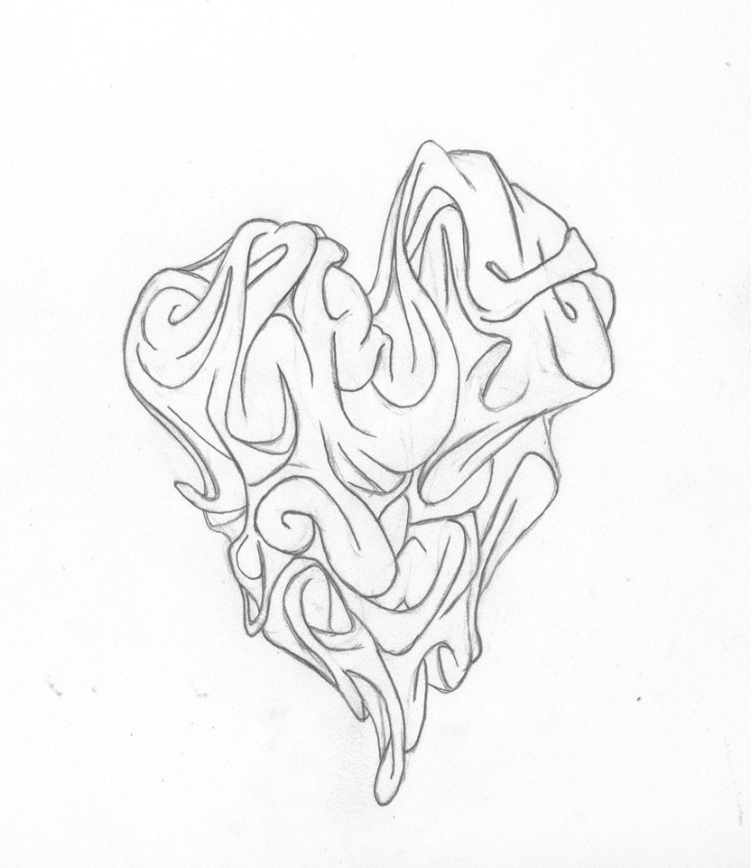 832x961 Graffiti Heart By Freshart101