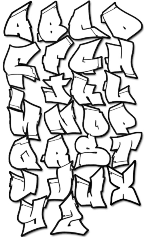 Graffiti Letters Az Drawing