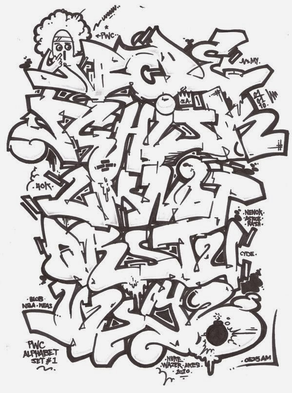 599x807 graffitie alphabet graffiti wildstyle
