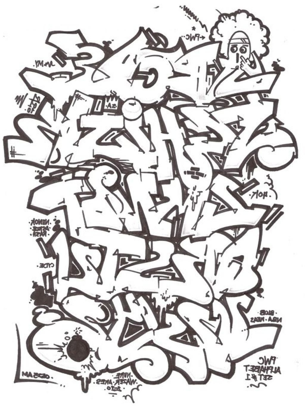 Graffiti Letters Az Drawing At Getdrawings Com Free For Personal