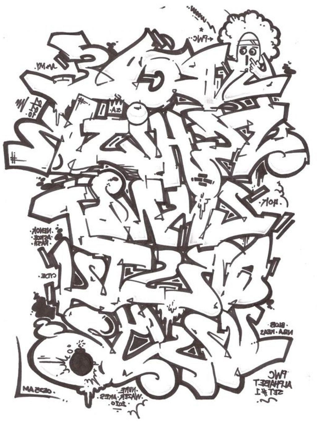 1024x1379 How To Draw 3D Graffiti Letters Az Alphabet A Z