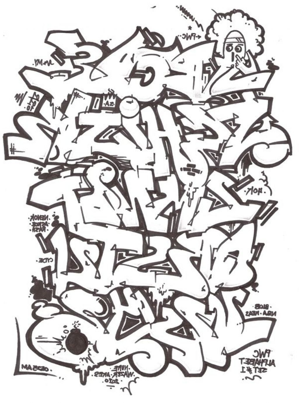 Graffiti Letters Drawing At Getdrawings Com Free For Personal Use